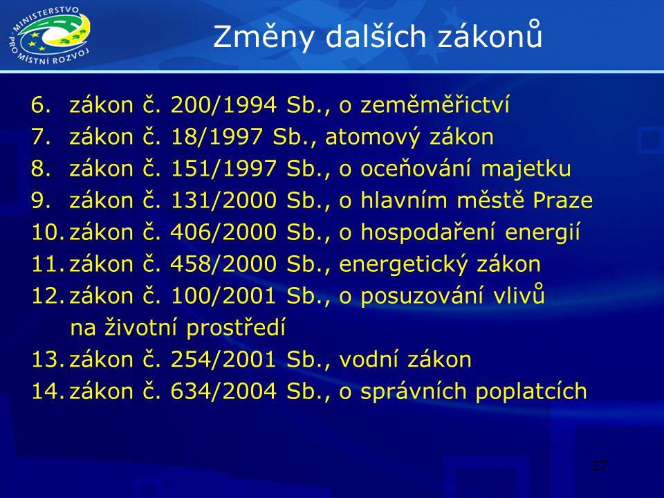 38 Zákon o požární ochraně 1.Změna zákona č.