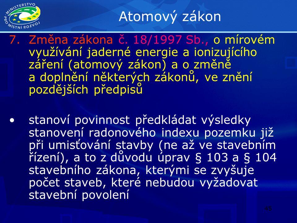 46 Zákon o oceňování majetku 8.Změna zákona č.