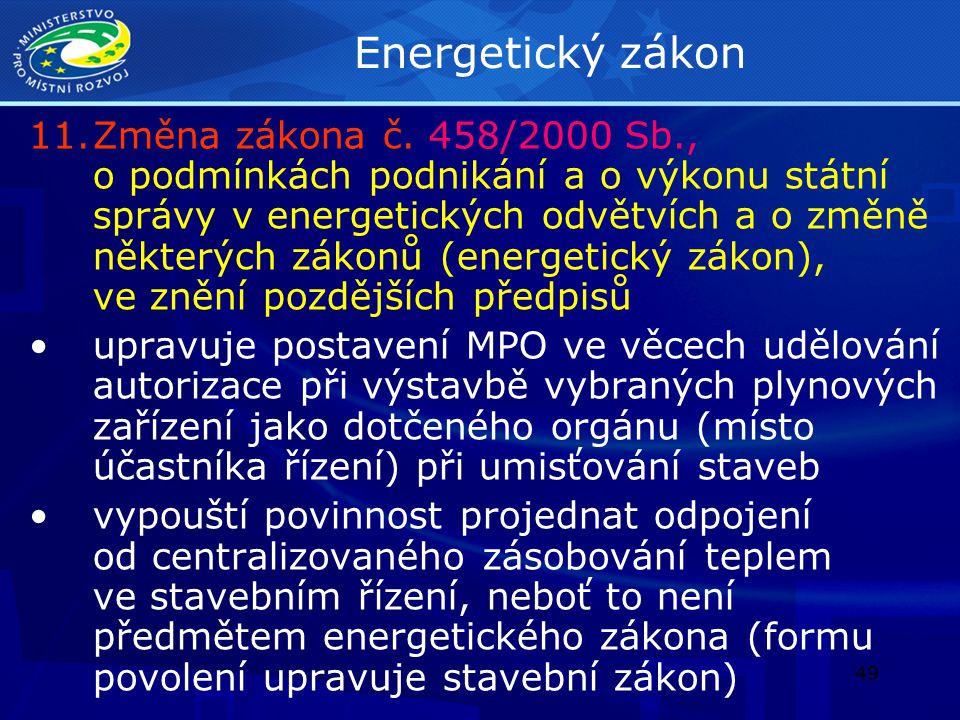 50 Zákon o posuzování vlivů na životní prostředí 12.Změna zákona č.