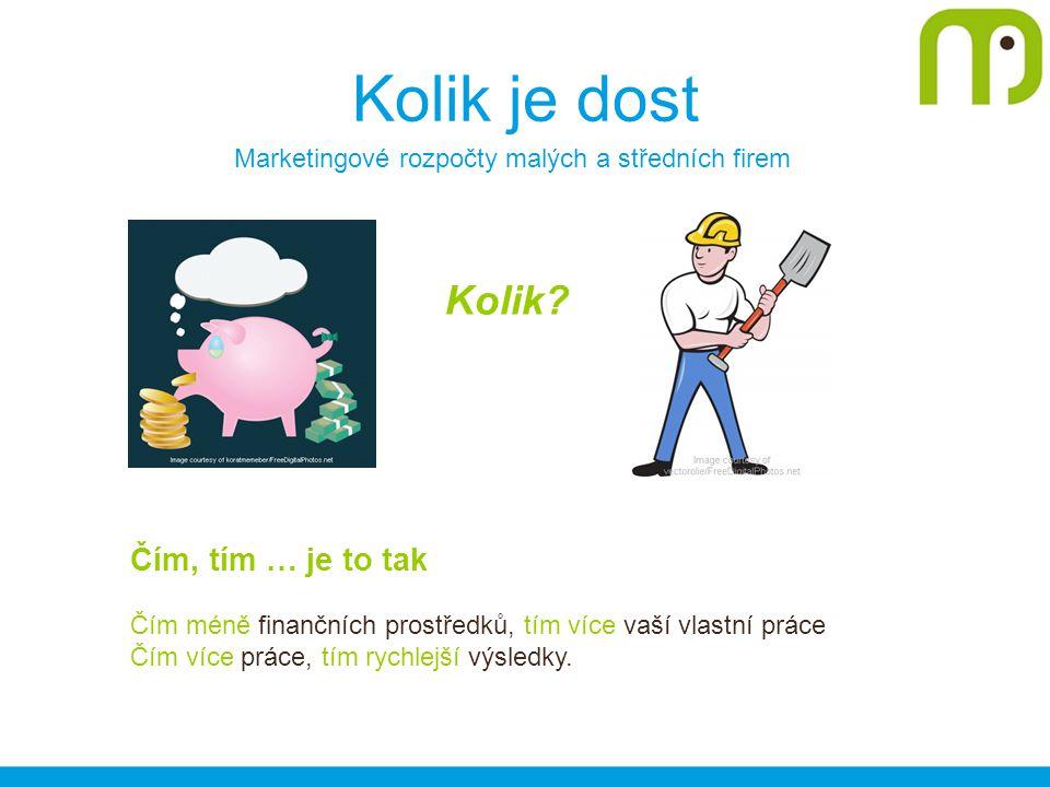 Kolik je dost Marketingové rozpočty malých a středních firem Kolik.