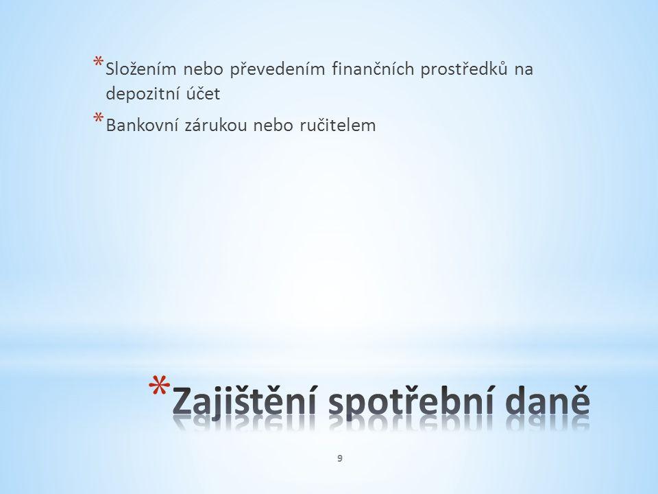 * Správa záruk v hotovosti přechází podle § 21 zákona o SPD z CÚ na nově zřízené KCÚ, odd.