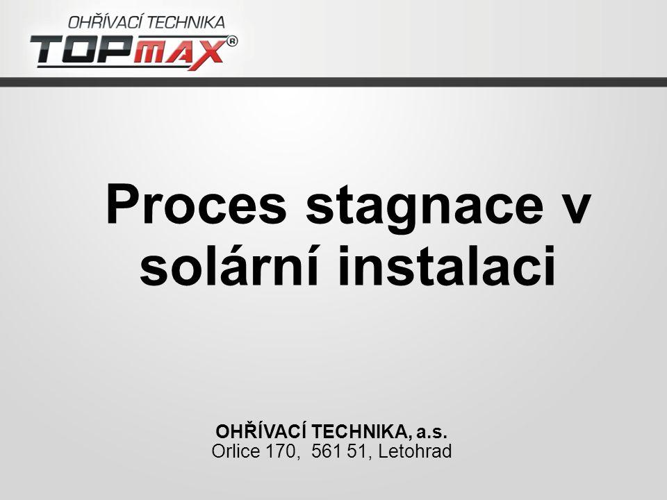 Proces stagnace v solární instalaci OHŘÍVACÍ TECHNIKA, a.s. Orlice 170, 561 51, Letohrad
