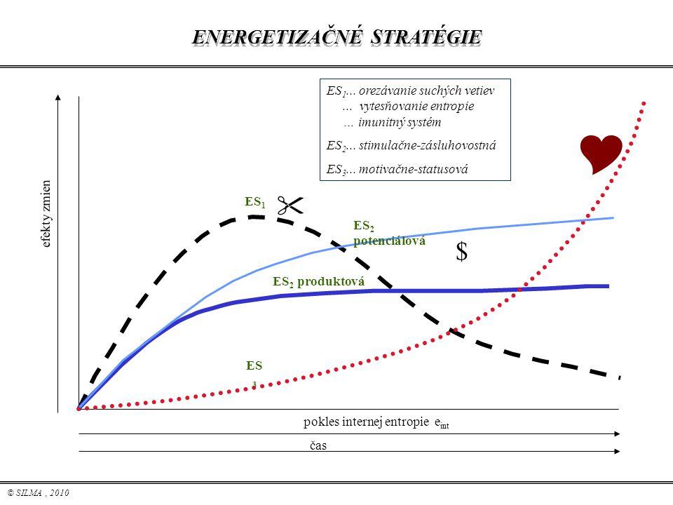 © SILMA, 2010 ENERGETIZAČNÉ STRATÉGIE ES 1... orezávanie suchých vetiev... vytesňovanie entropie … imunitný systém ES 2... stimulačne-zásluhovostná ES