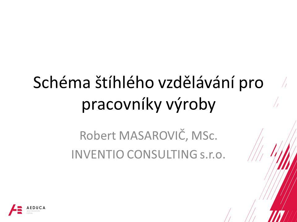 Schéma štíhlého vzdělávání pro pracovníky výroby Robert MASAROVIČ, MSc. INVENTIO CONSULTING s.r.o.