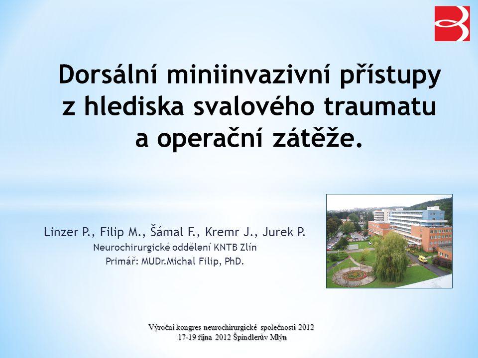 Stresová odpověď na operační zátěž (PLIF/miniPLIF) * * * * * p<0,05 IL 6 CRP
