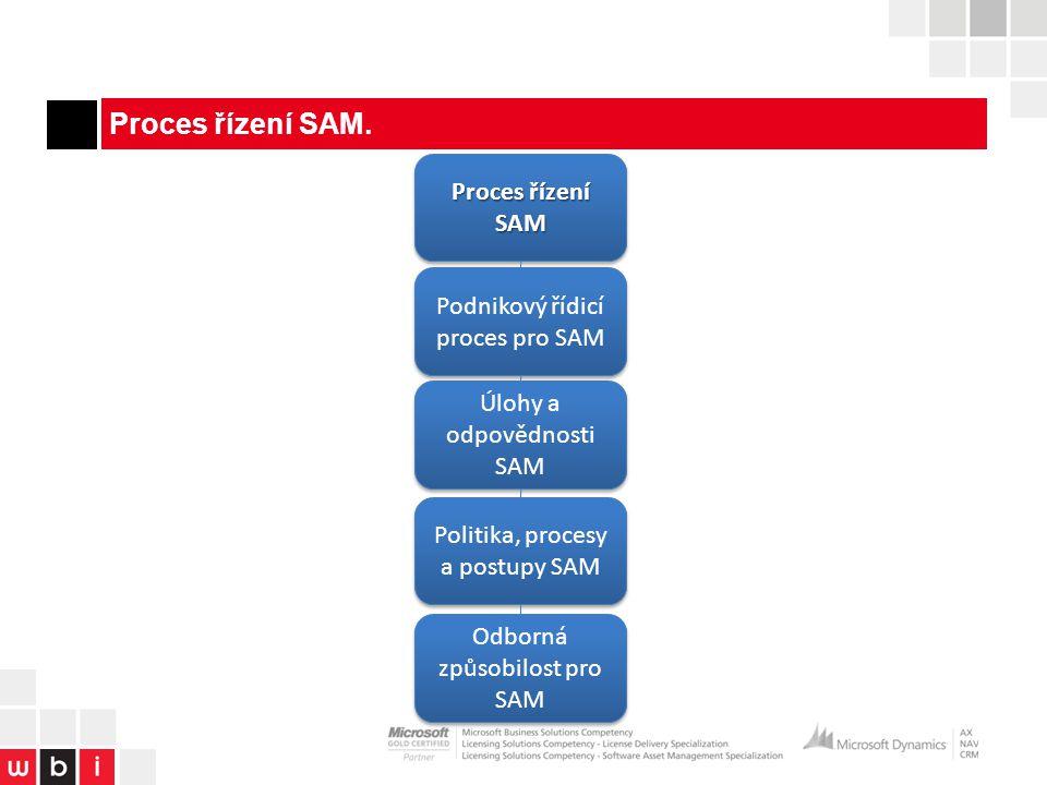 Proces řízení SAM.