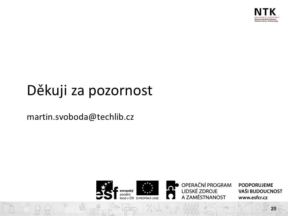 20 Děkuji za pozornost martin.svoboda@techlib.cz