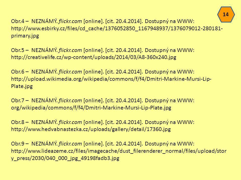 Obr.4 – NEZNÁMÝ. flickr.com [online]. [cit. 20.4.2014]. Dostupný na WWW: http://www.esbirky.cz/files/cd_cache/1376052850_1167948937/1376079012-280181-