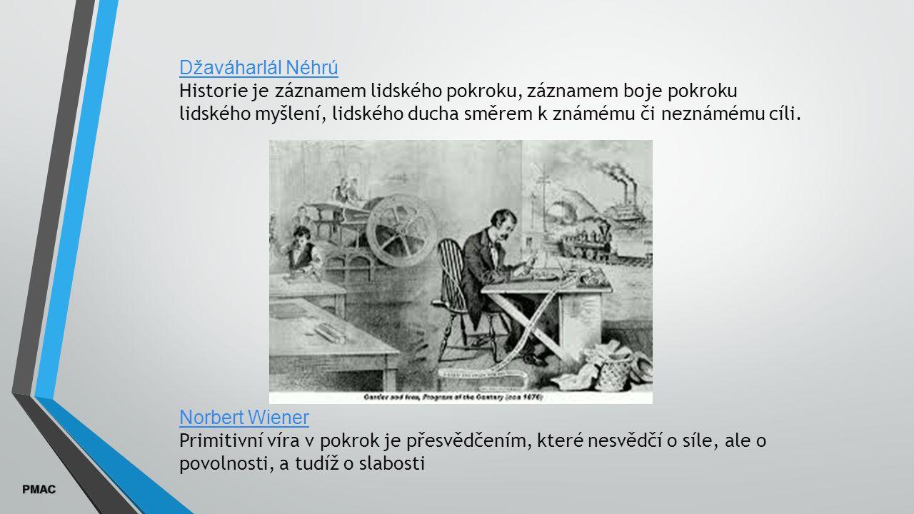 Džaváharlál Néhrú Historie je záznamem lidského pokroku, záznamem boje pokroku lidského myšlení, lidského ducha směrem k známému či neznámému cíli.