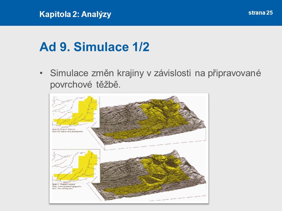 strana 25 Ad 9. Simulace 1/2 Simulace změn krajiny v závislosti na připravované povrchové těžbě.