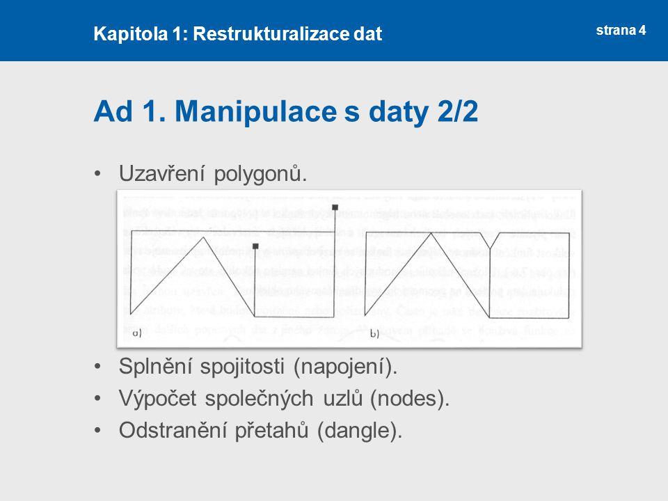 strana 4 Ad 1. Manipulace s daty 2/2 Uzavření polygonů.