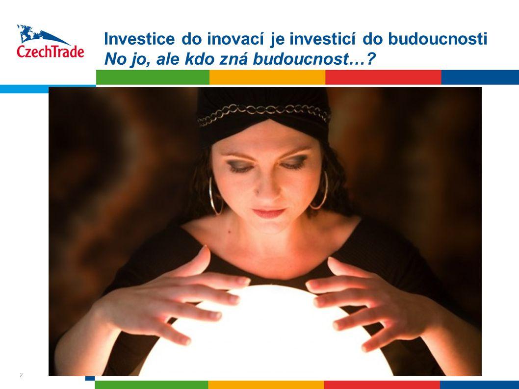 2 Investice do inovací je investicí do budoucnosti No jo, ale kdo zná budoucnost… 2