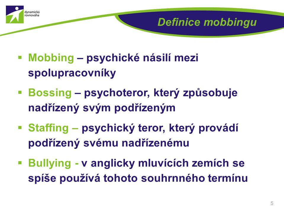 16 OBĚTI MOBBINGU  Osobnost oběti  Odlišnost  Fyzická odlišnost obětí  Psychická odlišnost obětí  Nový pracovník