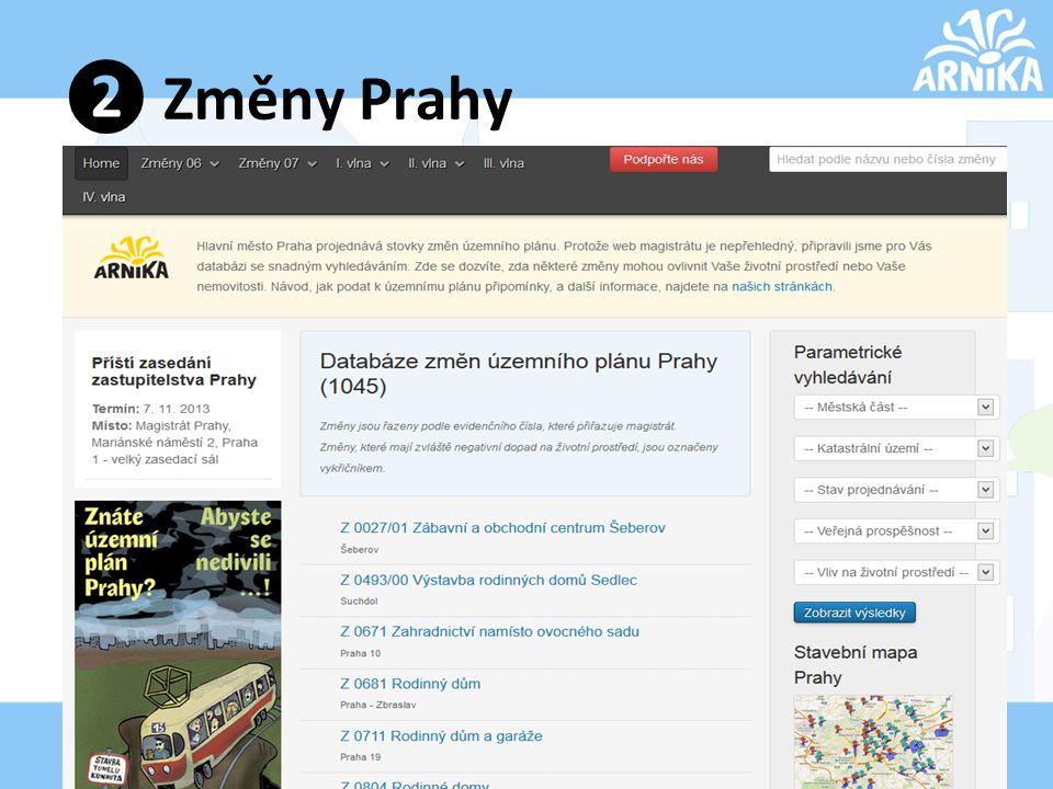 ❷ Změny Prahy