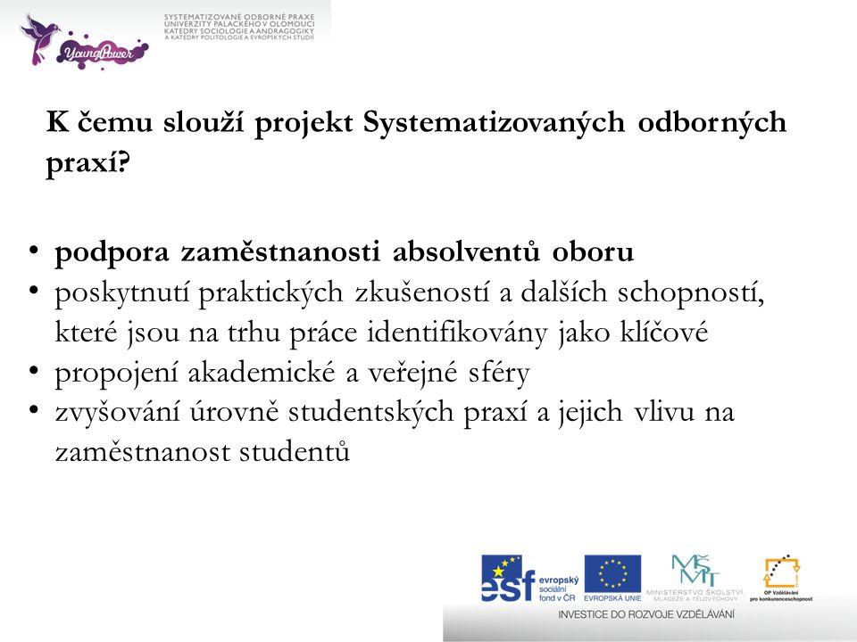 K čemu slouží projekt Systematizovaných odborných praxí.