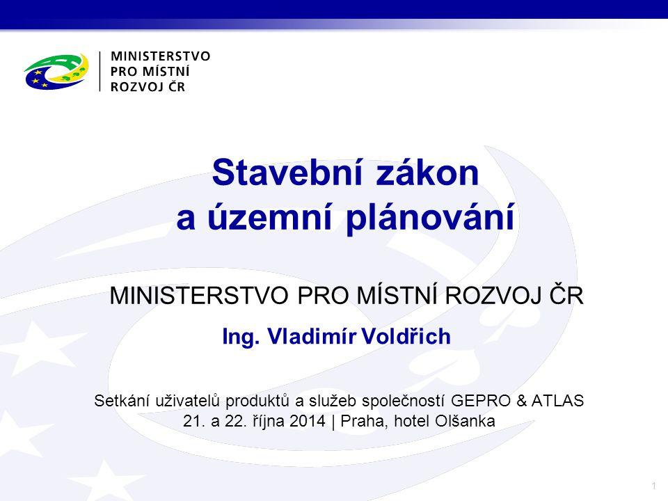 Obsah I.novela stavebního zákona z pohledu územního plánování, II.novinky v oblasti územního plánování, III.novinky v oblasti územně analytických podkladů.