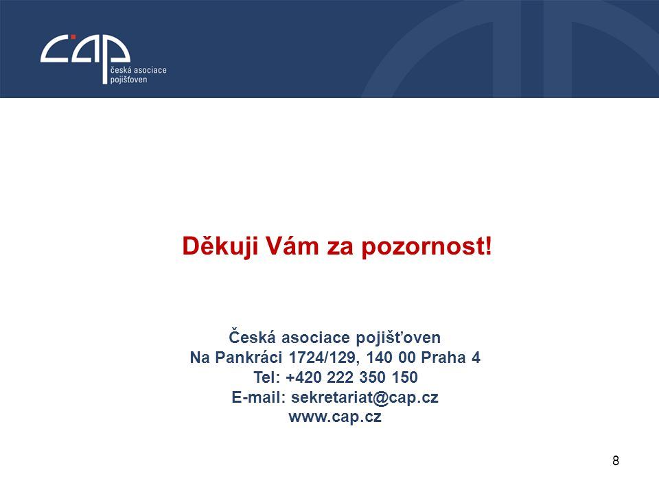 8 VODNÍ BOHATSTVÍ ČESKÉ REPUBLIKY Česká asociace pojišťoven Na Pankráci 1724/129, 140 00 Praha 4 Tel: +420 222 350 150 E-mail: sekretariat@cap.cz www.