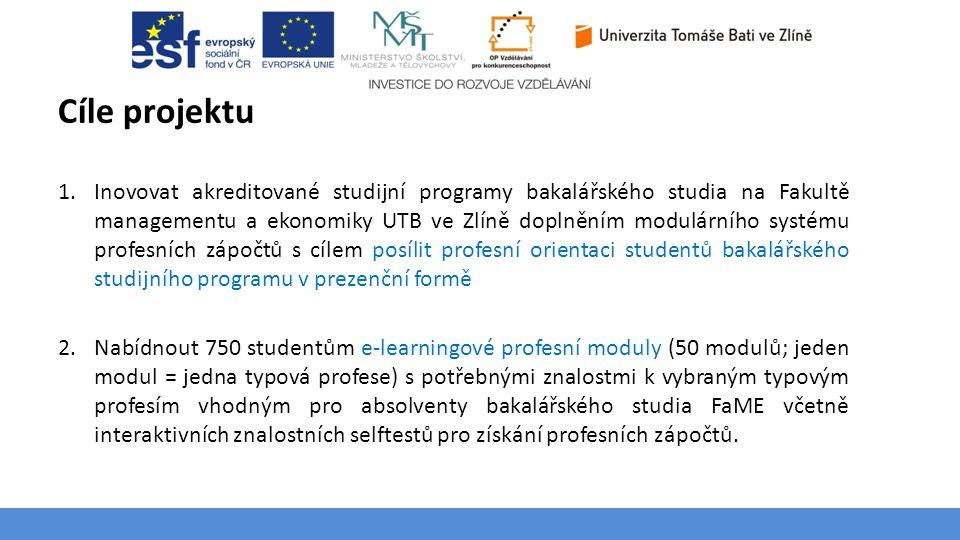 Téma 3 – Poptávka na trhu výrobků a služeb Cíle projektu 1.Inovovat akreditované studijní programy bakalářského studia na Fakultě managementu a ekonom