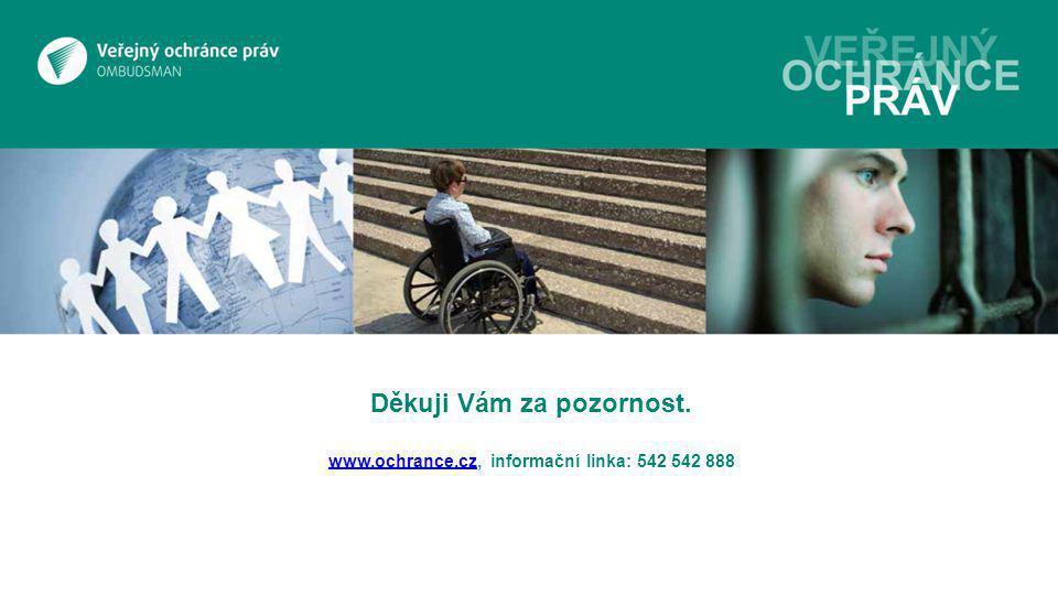 Děkuji Vám za pozornost. www.ochrance.cz, informační linka: 542 542 888 www.ochrance.cz