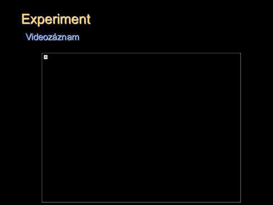 Experiment Videozáznam