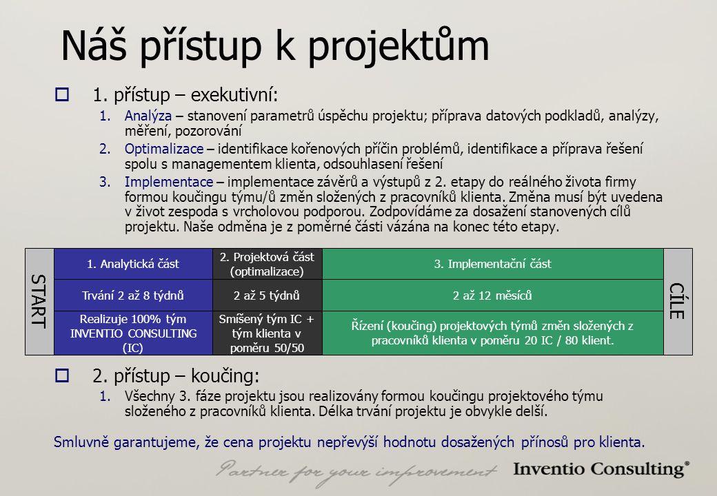 Náš přístup k projektům  1.