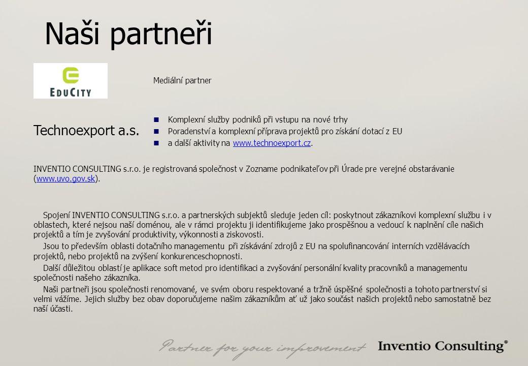 Naši partneři Technoexport a.s.
