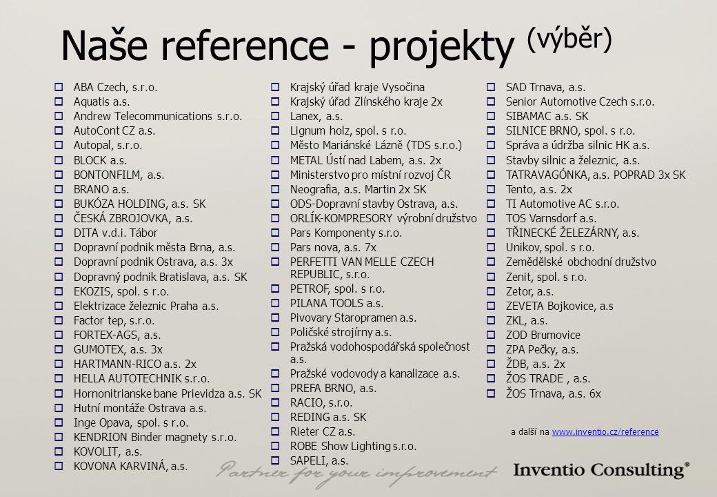 Naše reference - projekty (výběr)  ABA Czech, s.r.o.