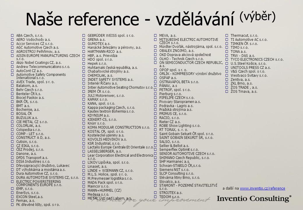 Naše reference - vzdělávání (výběr)  ABA Czech, s.r.o.