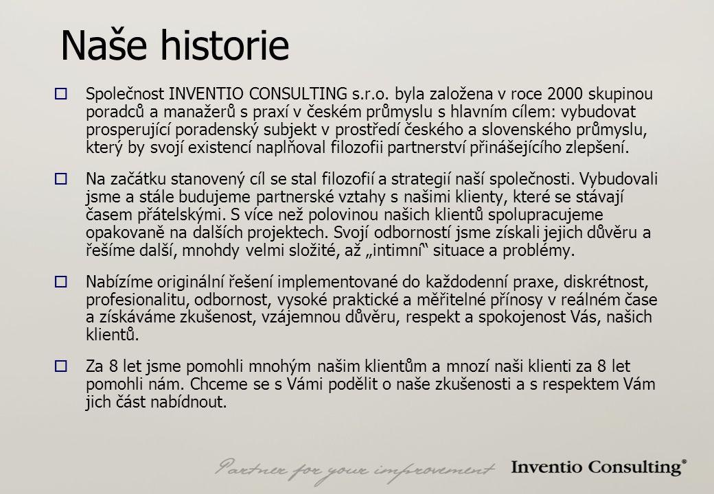 Naše historie  Společnost INVENTIO CONSULTING s.r.o.