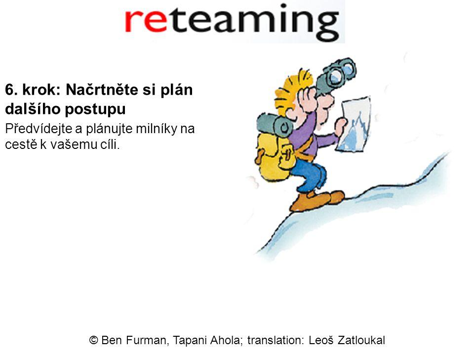 6. krok: Načrtněte si plán dalšího postupu Předvídejte a plánujte milníky na cestě k vašemu cíli.