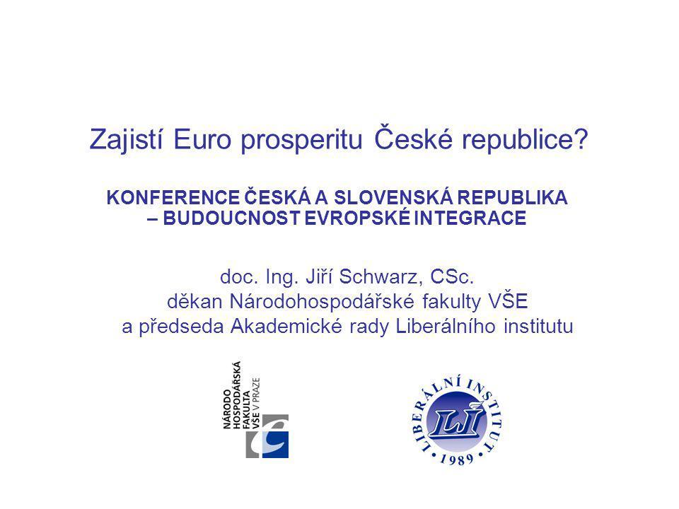 Zajistí Euro prosperitu České republice.