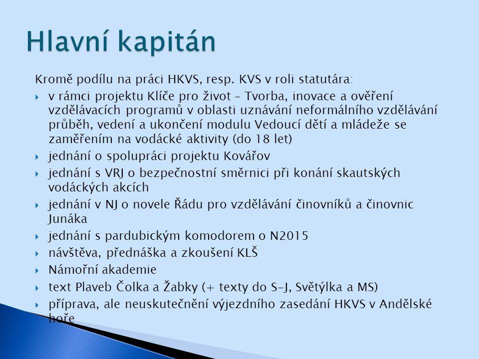 Kromě podílu na práci HKVS, resp.