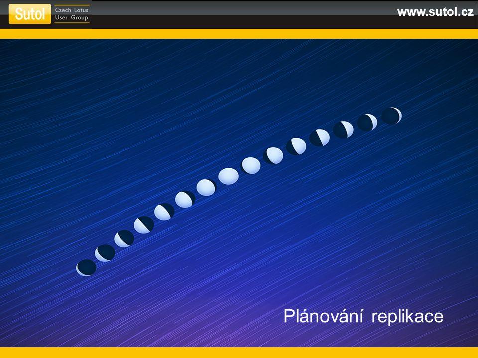www.sutol.cz Plánování replikace