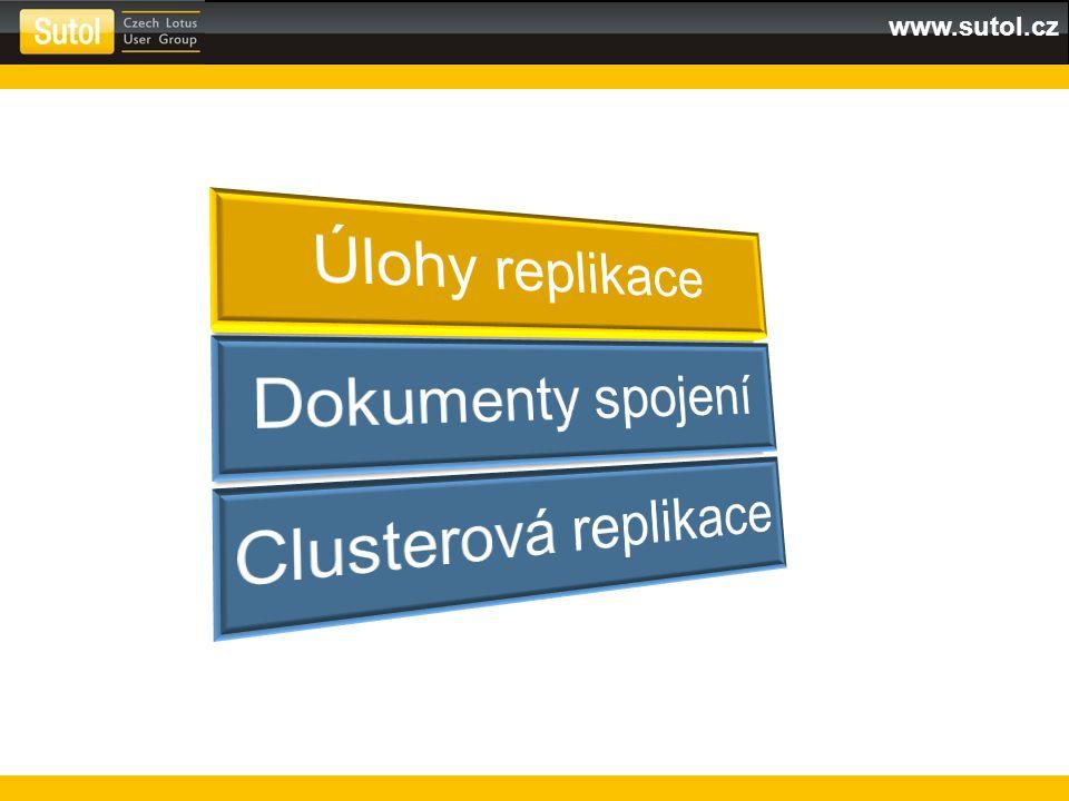 Synchronizace informací Defaultně jeden task Pro více: REPLICATORS=n Load replica Task je v klidu (idle) dokud není aktivován pomocí connection dokumentu nebo příkazem z konzole provádí replikaci v clusteru