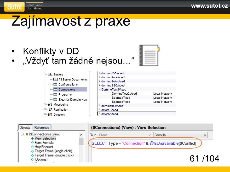 """www.sutol.cz Zajímavost z praxe Konflikty v DD """"Vždyť tam žádné nejsou…"""" 61 /104"""