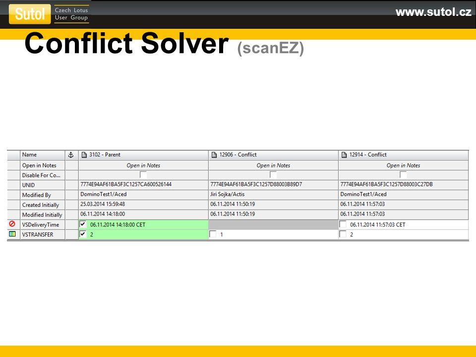 www.sutol.cz Conflict Solver (scanEZ)