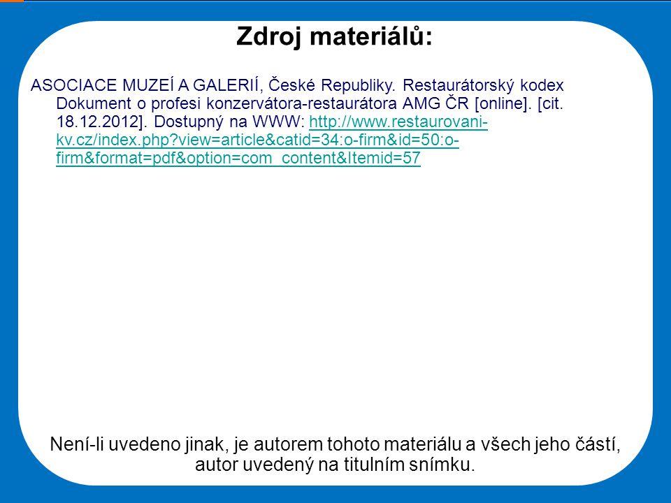 Střední škola Oselce Zdroj materiálů: ASOCIACE MUZEÍ A GALERIÍ, České Republiky.
