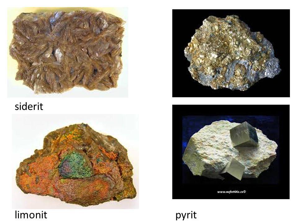 siderit pyritlimonit