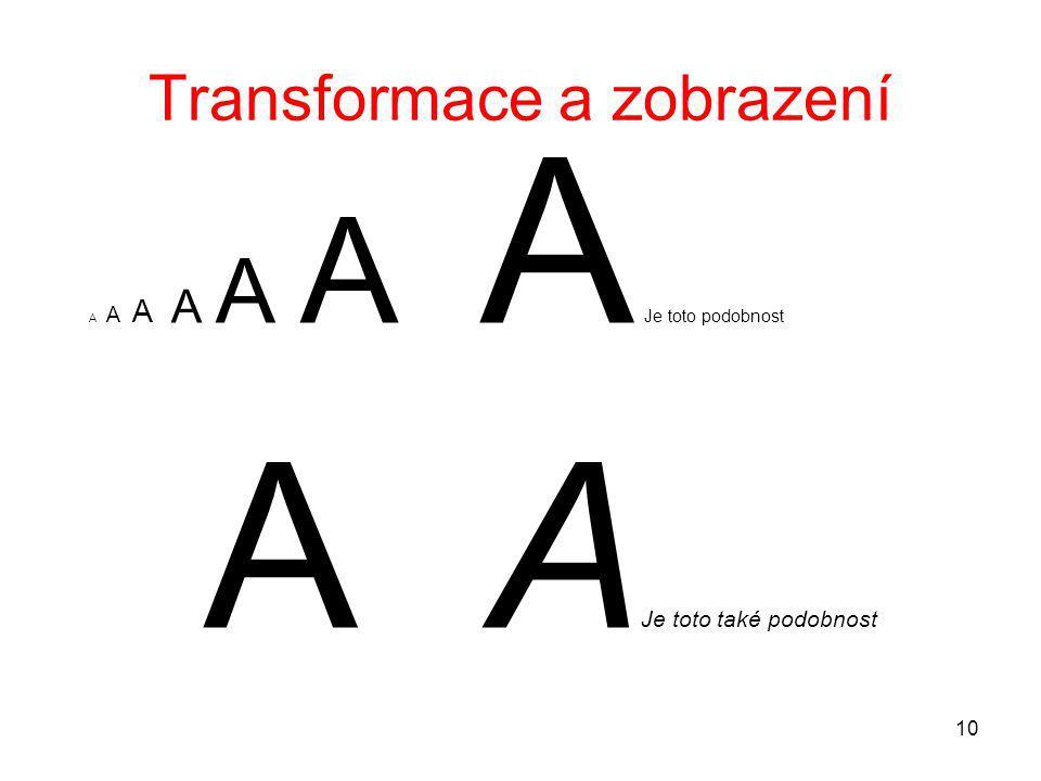10 Transformace a zobrazení A A A A A A A Je toto podobnost A A Je toto také podobnost