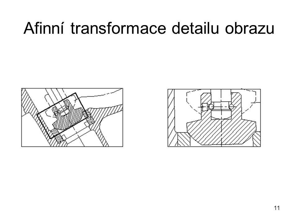 11 Afinní transformace detailu obrazu