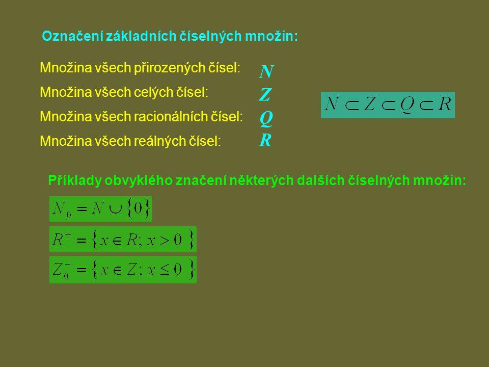 Číselná osa: 0 1 Přímka, jejíž body jsou obrazy reálných čísel.
