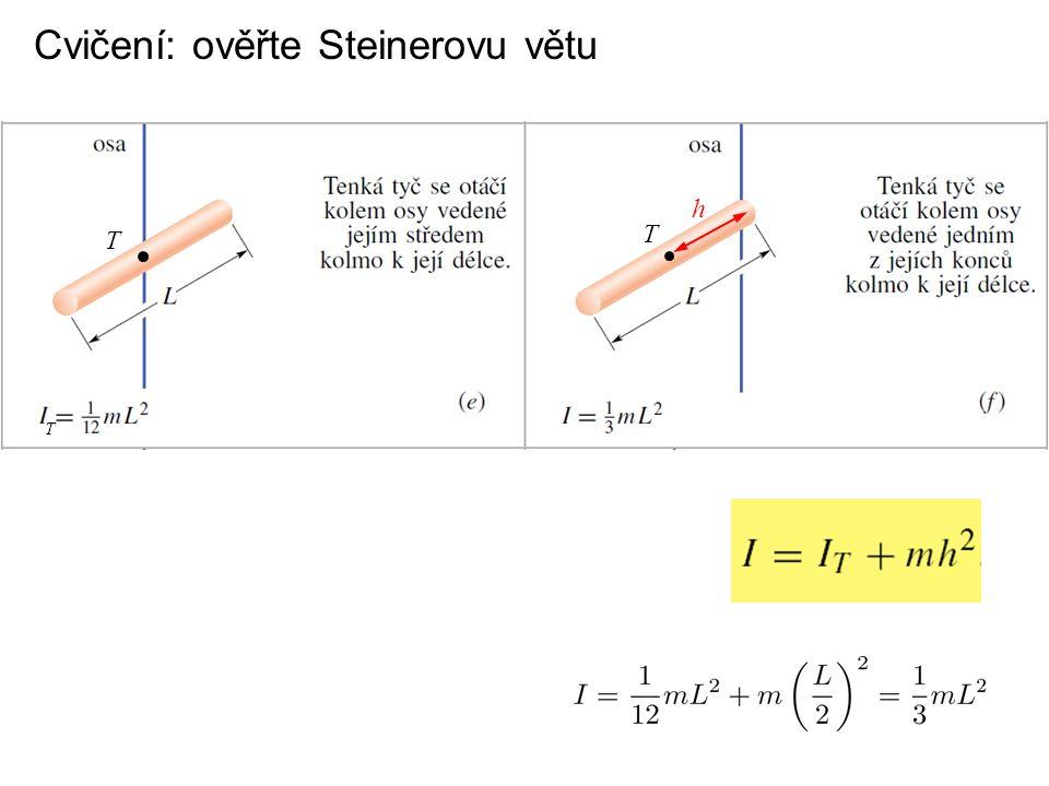 Cvičení: ověřte Steinerovu větu T T T h