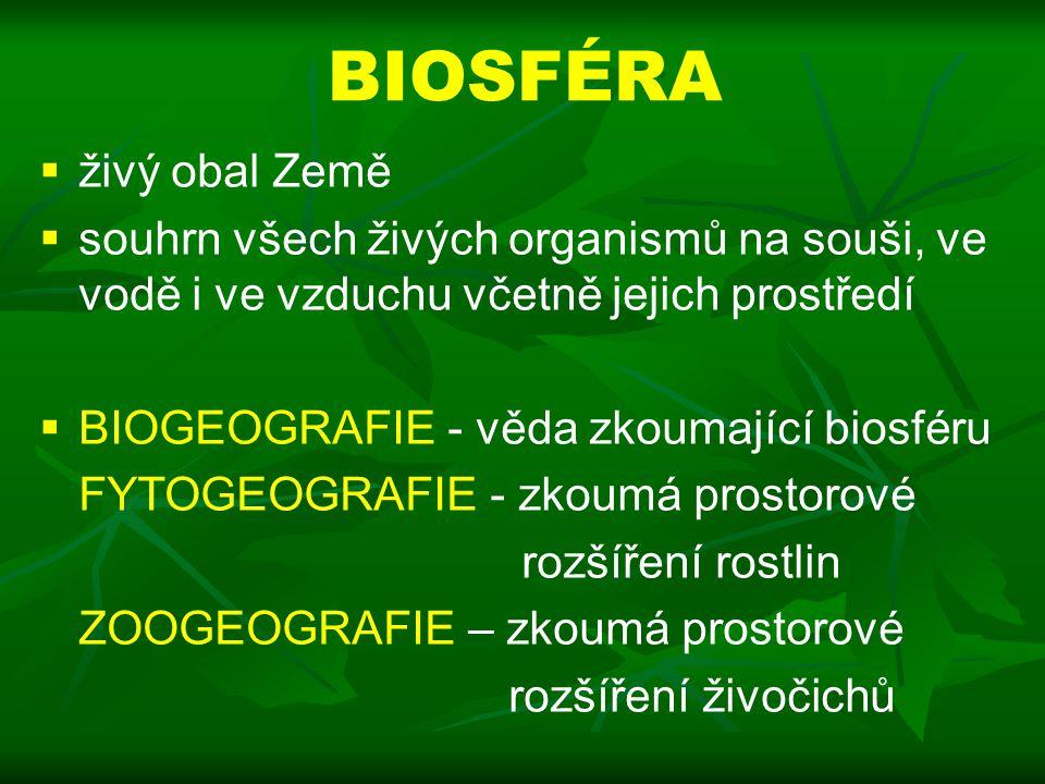 Ekologický slovníček  společenstvo (biocenóza) – soubor jedinců různých druhů organismů žijících na určitém území v určitém čase  biotop – relativně stejnorodý prostor, který poskytuje organismům podmínky pro život (pouze neživé faktory)  ekosystém (geobiocenóza) – souhrnné označení společenstva a jeho biotopu.
