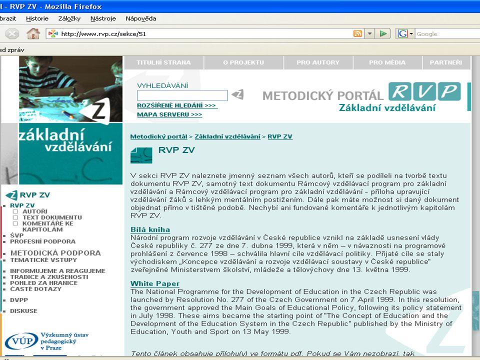 Metodická podpora tvorby ŠVP Velké systémové projekty podporované z ESF Hodina Pilot Z Pilot G/GP Metodika Koordinátor Start realizace na ZŠ 1.9.2007