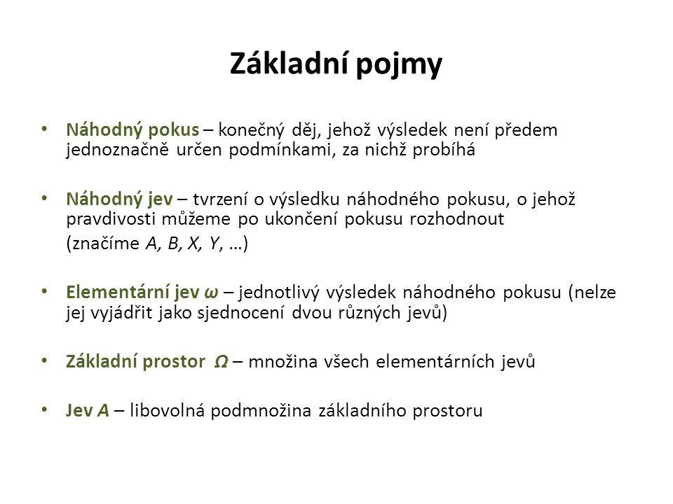 """Typy jevů Padne """"7 . Jev nemožný Padne méně než """"7 . Jev jistý Padne """"6 . Jev náhodný"""
