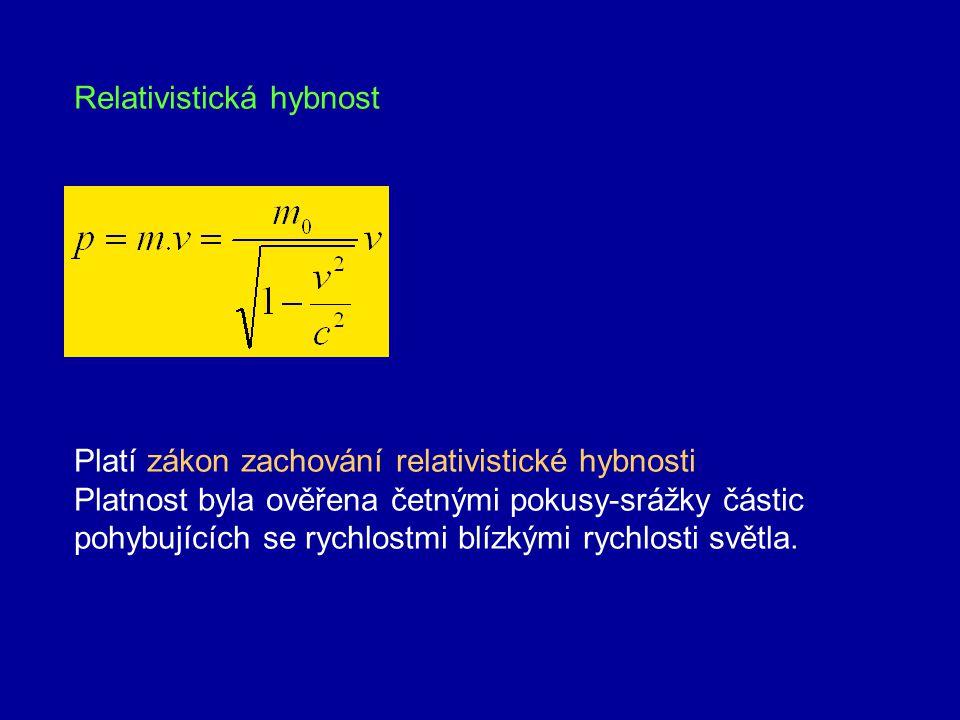 Při rychlosti blížící se rychlosti světla hmotnost roste nade všechny meze, z toho vyplývá, že žádné hmotné těleso nemůže tuto rychlost překročit Graf