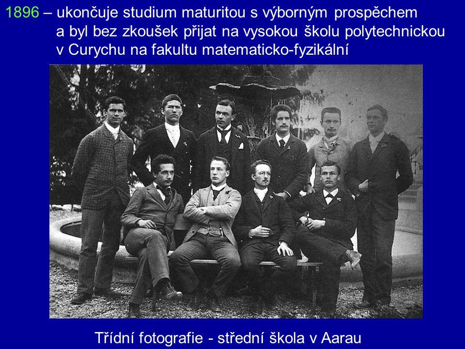 1894 – odchází ze školy bez závěrečných zkoušek, jede za rodiči do Milána 1895 – neúspěšně skládá zkoušky na vysokou školu polytechnickou v Curychu. R
