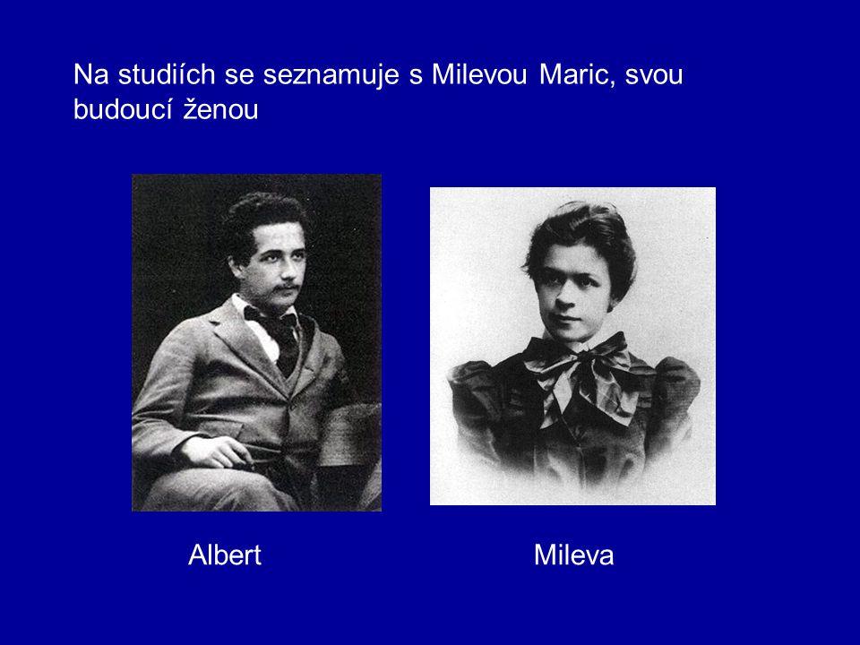 1896 – ukončuje studium maturitou s výborným prospěchem a byl bez zkoušek přijat na vysokou školu polytechnickou v Curychu na fakultu matematicko-fyzi