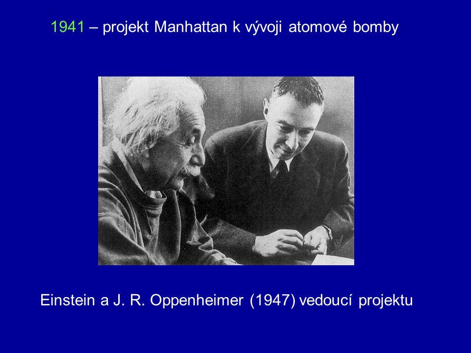 1939 – 2. srpna dopis prezidentu Rooseveltovi, v němž poukazuje na možnost výroby atomové bomby a na nebezpečí takové zbraně v německých rukou 1939 –