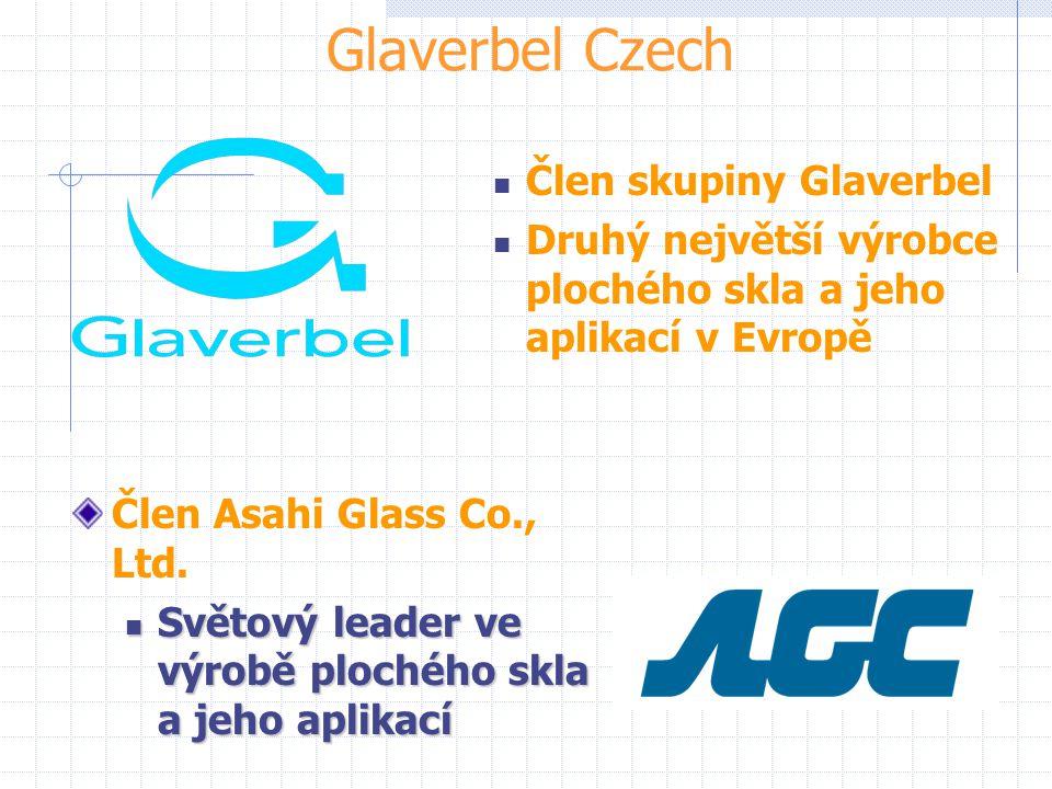 Glaverbel Czech Člen Asahi Glass Co., Ltd. Světový leader ve výrobě plochého skla a jeho aplikací Světový leader ve výrobě plochého skla a jeho aplika